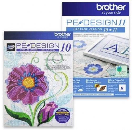 Brother PE Design 11 UPGRADE ONLY from PE design 5 6 7 8 Next Bundle - B318